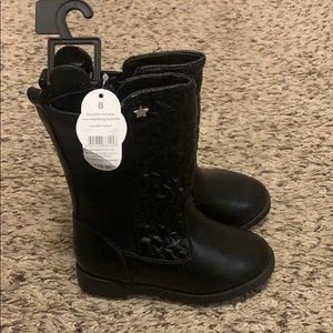Toddler size 8 black boots NWT